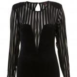 czarna sukienka Topshop - z kolekcji wiosna-lato 2011