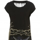 czarna sukienka Topshop z nadrukiem - trendy na jesień-zimę