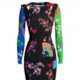 czarna sukienka Versace H&M z kwiatami - jesień/zima 2011/2012