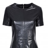 czarna sukienka Wallis z futerkiem skórzana - zima 2011/2012