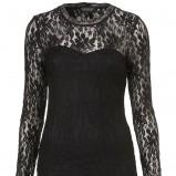 czarna sukienka wieczorowa Topshop z koronką - studniówka 2013
