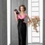 czarna suknia Aire Barcelona z kokardą długa