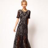 czarna suknia Asos z koronką - karnawał 2013
