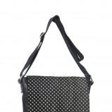 czarna torebka Gino Rossi w kropki - moda 2011