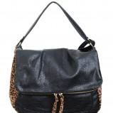 czarna torebka H&M w panterkę - jesień-zima 2012/2013