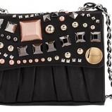 czarna torebka Tosca Blu ze zdobieniami - moda 2011