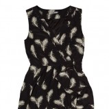 czarna tunika Answear w piórka - kolekcja wiosenno/letnia