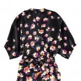 czarna tunika H&M w kwiaty - moda wiosna/lato