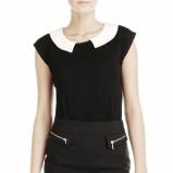 czarna z kołnierzem bluzeczka Pretty Girl - moda na zimę 2013/14