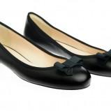 czarne baleriny Simple z kokardą - wiosna 2012