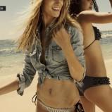czarne bikini Reserved z falbanami - lato 2012