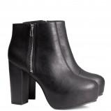 czarne botki H&M - jesień i zima 2013/14
