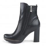 czarne botki Marco Shoes na obcasie - jesień-zima 2013/14
