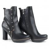 czarne botki Marco Shoes skórzane - jesień/zima 2013/2014