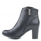 czarne botki Marco Shoes skórzane - moda 2013/14