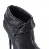 czarne botki Styleup za kostkę wysokie - jesień 2011