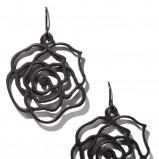 czarne kolczyki Reserved - moda zimowa