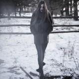 czarne legginsy Rabarbar z łączonech materiałów - kolekcja jesienno-zimowa