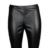 czarne legginsy Stefanel skórzane - trendy na jesień 2013