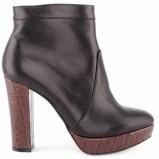 czarne na słupku botki Baldowski - modne obuwie na jesień i zimę