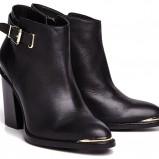 czarne na słupku botki Reserved - obuwie na wiosnę 2013