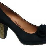 czarne pantofle Deichmann na obcasie - wiosenna kolekcja