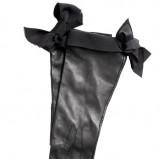 czarne rękawiczki H&M ze skóry - moda zimowa