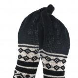 czarne rękawiczki Solar we wzorki - sezon jesienno-zimowy