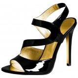 czarne sandałki H&M lakierowane - jesień/zima 2011/2012