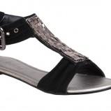 czarne sandały CCC - lato 2011