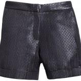czarne szorty H&M skórzane - wiosna/lato 2012