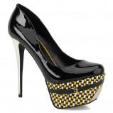 czarne szpilki Kazar na platformie - moda 2012