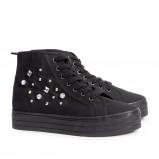 czarne trampki H&M - moda 2013/14