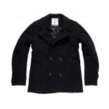 czarny płaszcz Big Star z guzikami - kolekcja jesienna