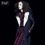 czarny płaszcz F&F - kolekcja jesienna
