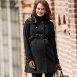 czarny płaszcz H&M - jesień/zima 2011/2012