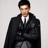 czarny płaszcz H&M - trendy zimowe