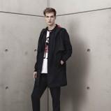 czarny płaszcz H&M - wiosna-lato 2012