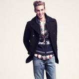 czarny płaszcz H&M - zima 2011/2012