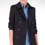 czarny płaszcz Stradivarius - moda na jesień 2013