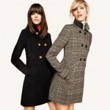 czarny płaszczyk H&M - jesień 2011