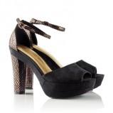czarny sandały H&M - jesień/zima 2011/2012