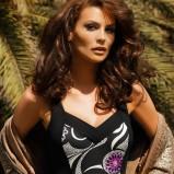 czarny strój kąpielowy Feba we wzory - moda 2011