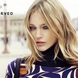 czarny sukienka Reserved we wzory - moda 2011/2012