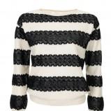 czarny sweter Camaieu w pasy - wiosna/lato 2012