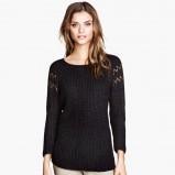 czarny sweter H&M - zimowa moda