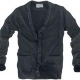 czarny sweter Pull and Bear rozpinany - wiosna/lato 2011