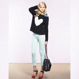 czarny sweter Tally Weijl z aplikacją - jesień-zima 2012/2013