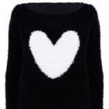 czarny sweter Tally Weijl z sercem - z kolekcji jesień/zima 2012/13