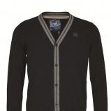 czarny sweter Top Secret rozpinany - z kolekcji jesień-zima